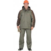 """Костюм """"Кобальт"""" : куртка, брюки, оливковый с темно-коричневым"""