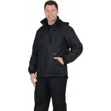 """Куртка """"ПРАГА-Люкс"""" мужская, с капюшоном, черный"""