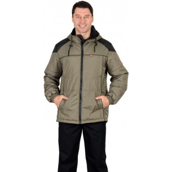 """Куртка """"Спринтер"""" мужская, оливковая с черным"""
