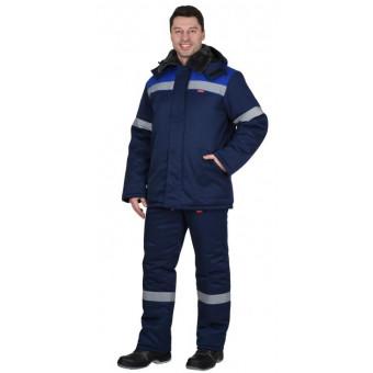 "Костюм ""Рост-Арктика"": курт.брюки, синий с васильковым и СОП 50мм"