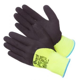 Gward Soft Plus Яркие перчатки с глубоким покрытием вспененным латексом