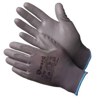 Gward Gray Перчатки нейлоновые серые с серым полиуретаном