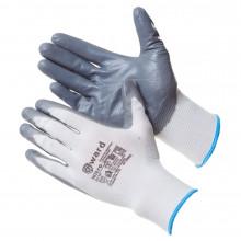 Gward Nitro Перчатки из белого нейлона с серым нитриловым покрытием B-класса