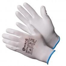 Gward White Перчатки нейлоновые белые с белым полиуретаном