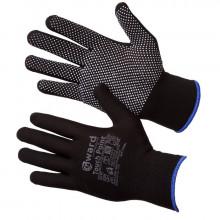 Gward Touch Point 9 Черные нейлоновые перчатки с ПВХ микроточкой