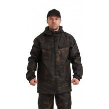 """Костюм РОВЕР куртка/брюки, цвет: кмф """"Мультикам черный"""", ткань: Полофлис"""
