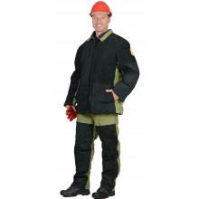 Костюм сварщика зимний: куртка, брюки брезентовый со спилком (2,7 кв.м.) тип Б